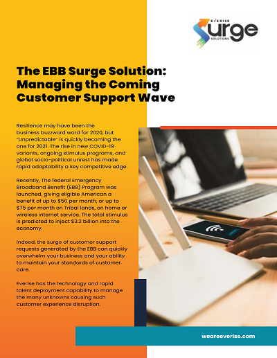The EBB Surge Solution - Managing the Coming Customer Support Wave