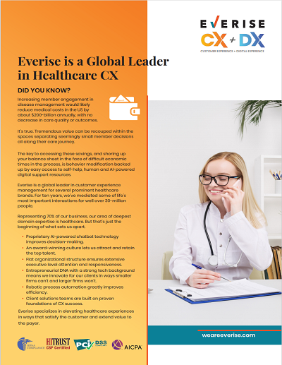 Case Study Cover - Everise is a global leader in healthcare